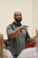 Alton Carter Visits Muldrow Teachers